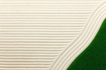 波模様の白砂