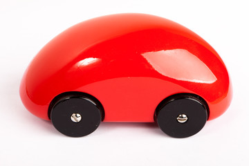 Voiture rouge ronde