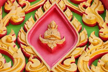 Thai art on gable of temple