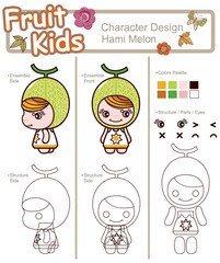 Cartoon Fruit Character 13