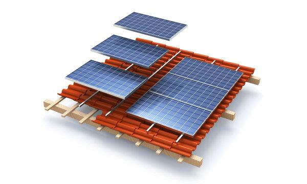 Solar roof module construction