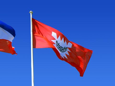Fahne Kiel, Landeshauptstadt des Bundeslandes Schleswig-Holstein
