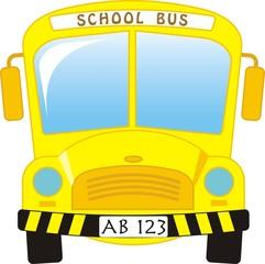 illustration of school bus cartoon