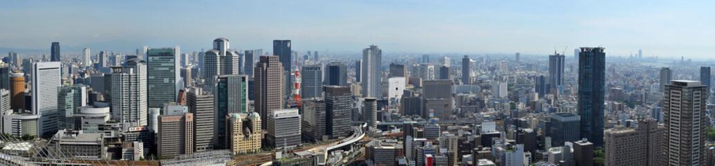 Osaka city panorama