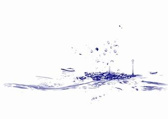 Wassertropfen blau