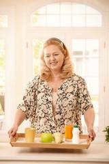 Senior woman keeping diet