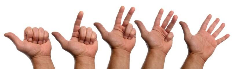 compter avec les mains