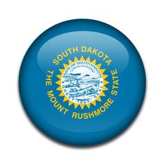 Chapa bandera Dakota del Sur