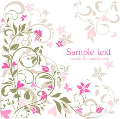 Greeting floral postcard