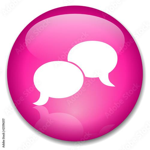 Pink Internet Icon
