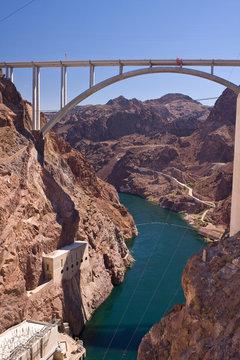 Mike O'Callaghan - Pat Tillman Memorial Bridge from Hoover Dam