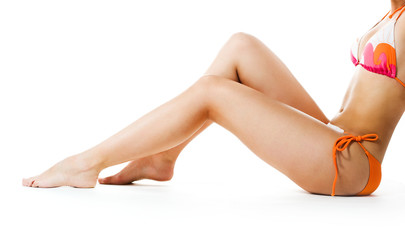 Perfect female legs isolated