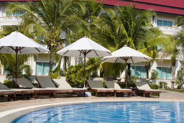 Beautiful tropical swimming pool in Cambodia