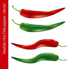 Realistic Hot Chili Pepper