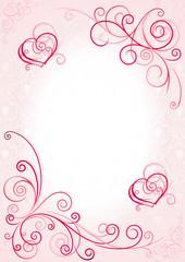 love frame pink
