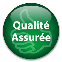 Bouton Web QUALITE ASSUREE (garantie totale contrôle industrie)