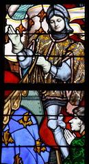Foto op Plexiglas Stained Jeanne d'Arc