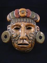 A Maya Warrior Clay Mask from Mexico