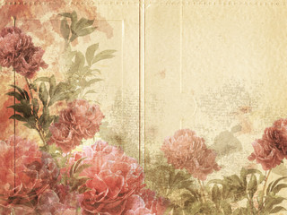 Blumen-Passpartout