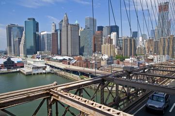 New York City Brookly Bridge Panorama