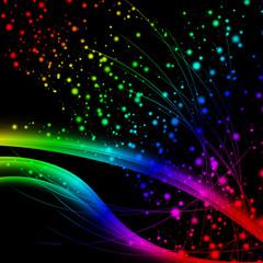 Beautiful Bokeh. blurry lights. Colored Defocus Light