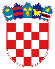 Fototapete - Croatia Coat of Arms