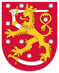 Wall Mural - Finland Coat of Arms