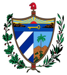 Fototapete - Cuba Coat of Arms