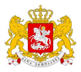 Fototapete - Georgia Coat of Arms