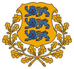 Fototapete - Estonia Coat of Arms