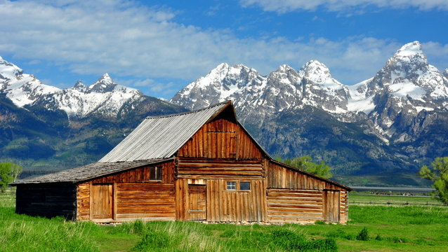 T.A. Moulton Barn and the Grand Tetons