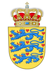 Wall Mural - Denmark Coat of Arms