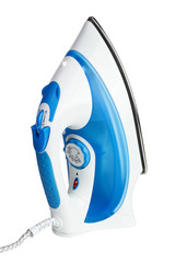 electric steam iron isolated on white background