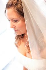 mariée en contre-jour