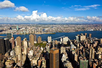 view from Empire state building to New York