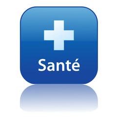 Bouton Web SANTE (forme exercice bonne santé poids médecine)