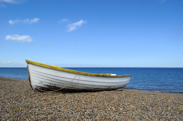 Rowboat on the beach