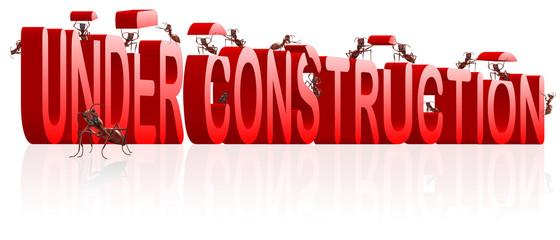 under construction webpage or website building