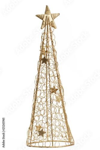goldener metall weihnachtsbaum stockfotos und. Black Bedroom Furniture Sets. Home Design Ideas