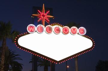 Las Vegas Blank Sign at Night