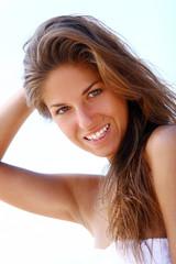 sexy and beautiful woman on beach