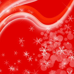 red card with christmas snowflakes