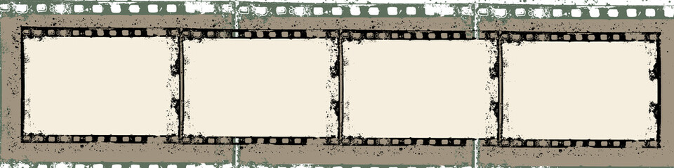Grunge film frame with space for your text and images