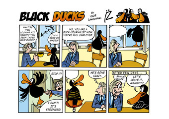 Foto op Aluminium Comics Black Ducks Comic Strip episode 55