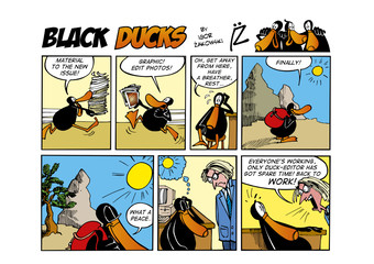 Fotorolgordijn Comics Black Ducks Comic Strip episode 54