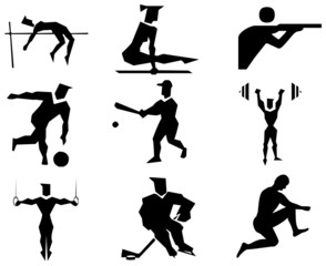 Sports Icons schwarz