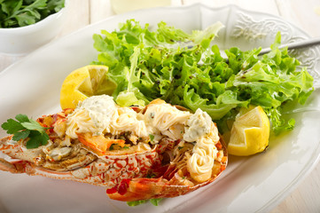 lobster with mayonnaise and salad - Aragosta con maionese