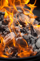 Flames on a BBQ