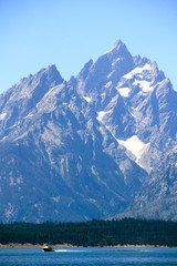 Boating under the Tetons