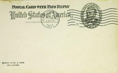 Historische Postkarte USA
